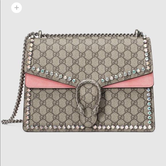 af3a8b0dd08d9f Gucci Bags | Dionysus Gg Medium Crystal Shoulder Bag | Poshmark